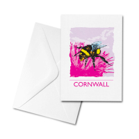 Blank Greetings Card - Cornwall - Bee