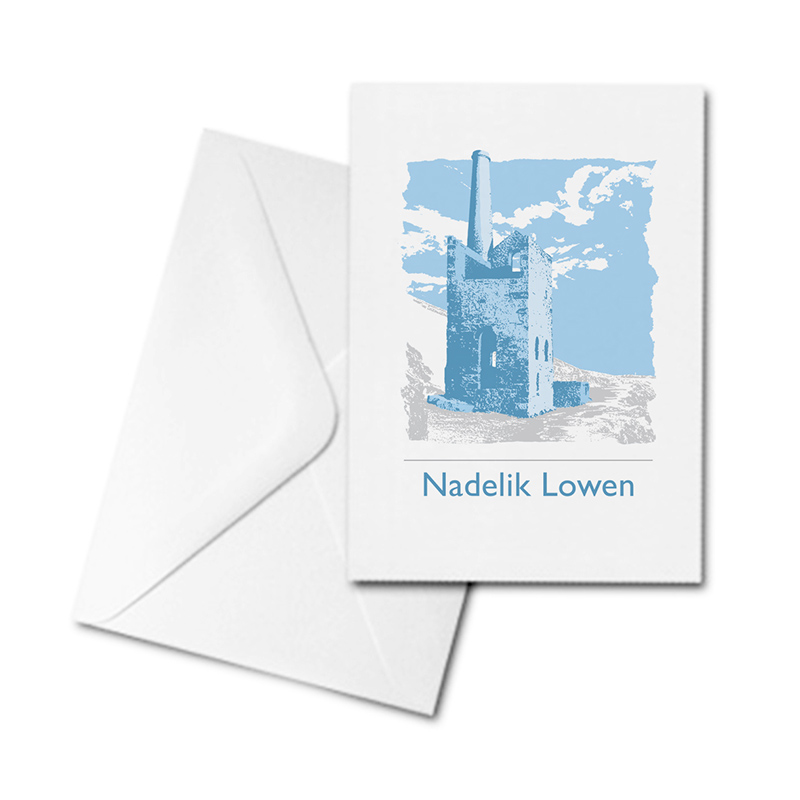 Christmas Card - Tin Mine - Nadelik Lowen