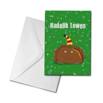 Christmas Card - Cornish Pasty - Nadelik Lowen