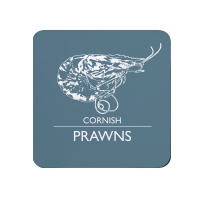 Cornish Prawns Coaster - Mid Grey Melamine - Cornwall Vibes