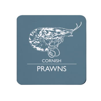 Cornish Prawns Coaster - Grey