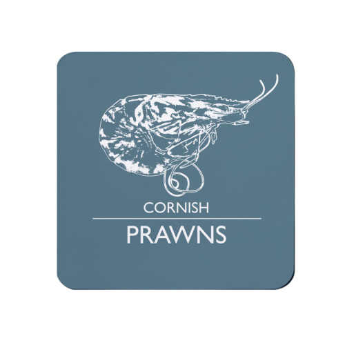 Cornish Prawns Coaster