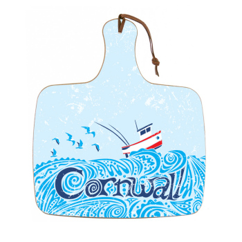 Chopping Board - Little Boat - Cornwall