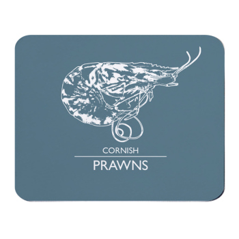 Place Mat - Cornish Prawns - Grey