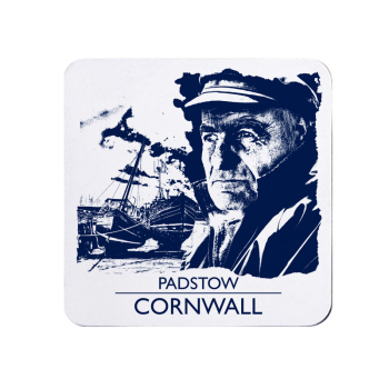 Padstow Coaster - Blue & White Melamine - Cornwall Vibes