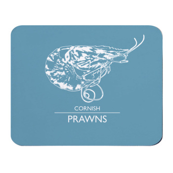 Place Mat - Cornish Prawns - Blue