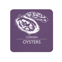 Cornish Oysters Coaster - Purple