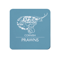 Cornish Prawns Coaster - Light Blue Melamine - Cornwall Vibes