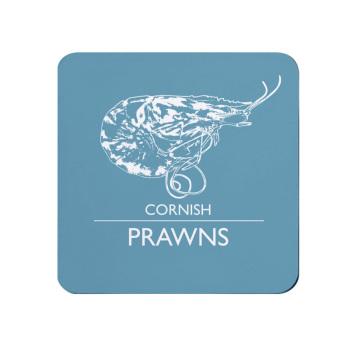 Cornish Prawns Coaster - Light Blue Melamine - Cornwall Vibes