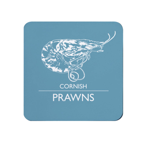 Cornish Prawns Coaster - Blue