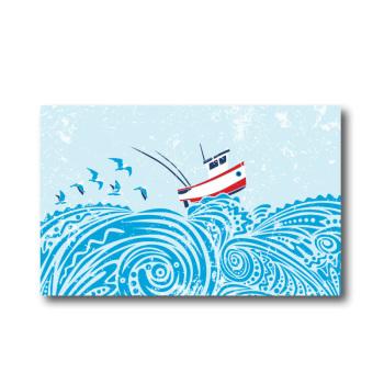 Melamine Fridge Magnet - Boat