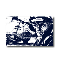 Melamine Fridge Magnet - Fisherman