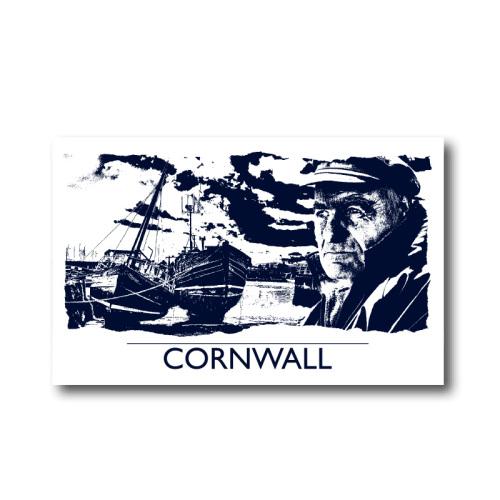 Melamine Fridge Magnet - Cornwall Fisherman
