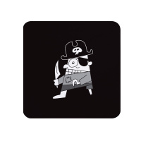 Pirate Coaster - Black & White Melamine - Cornwall Vibes