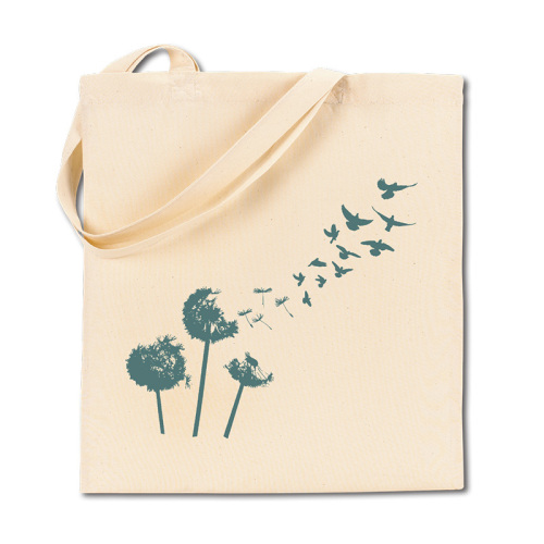Canvas Shopping Bag - Dandelions