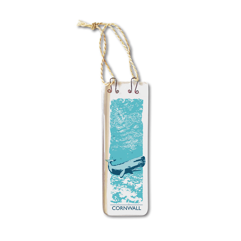 Handmade Fused Glass Hanging - Whale