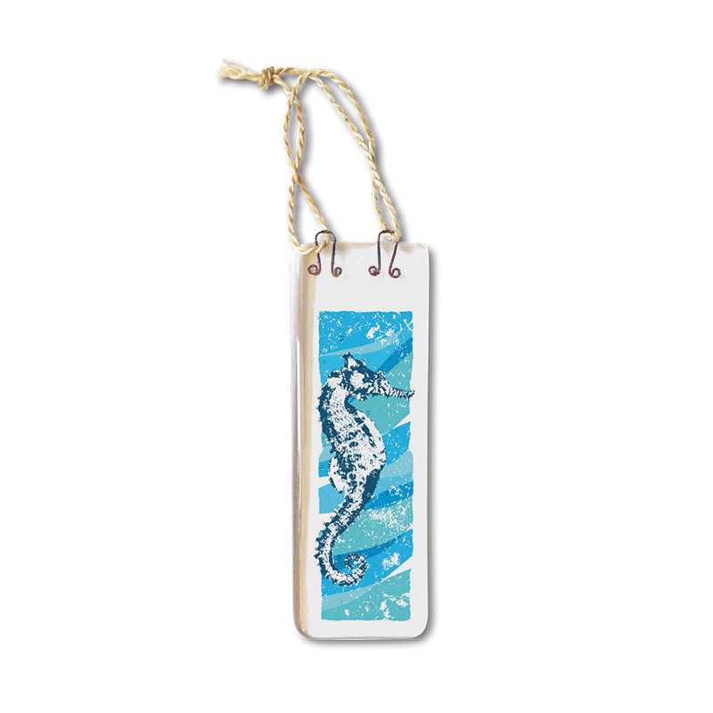 Handmade Fused Glass Hanging - Seahorse