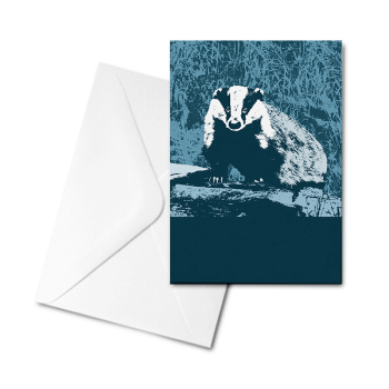 Blank Greetings Card - Badger