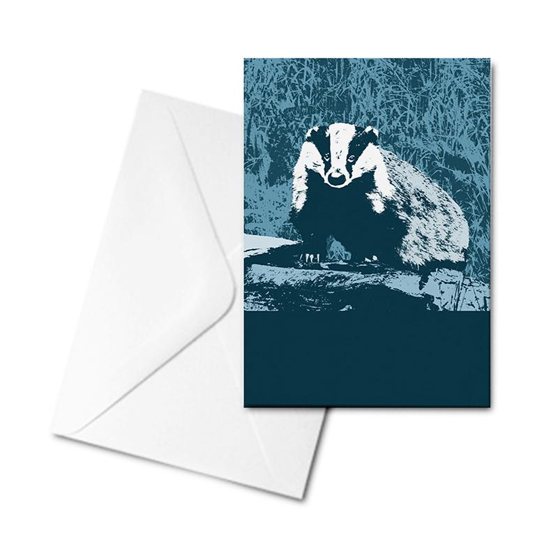 Blank Greetings Card - Badger