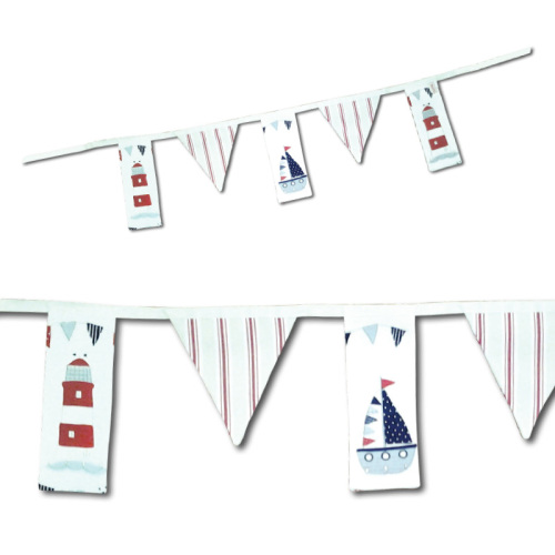 Beautiful Nautical Inspired Fabric Bunting