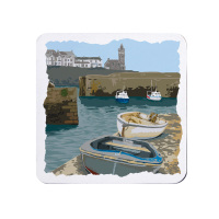 Melamine Coaster - Porthleven Harbour in Cornwall