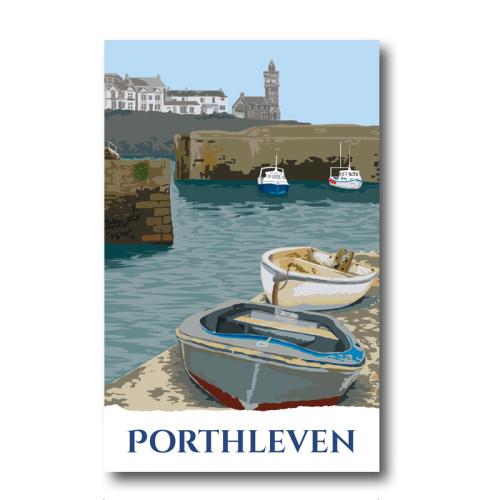Melamine Fridge Magnet - Porthleven, Cornwall