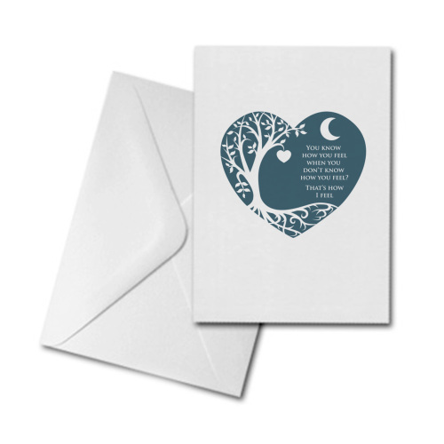 Blank Greetings Card - Heart - Don't Know How I Feel