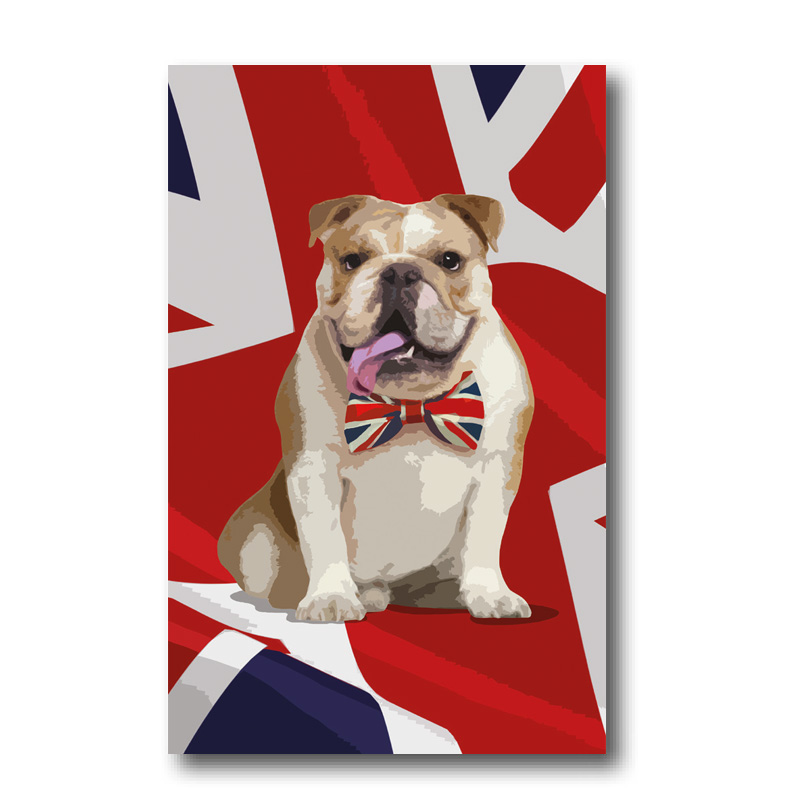 Melamine Fridge Magnet - British Bulldog
