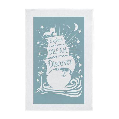 Tea Towel - Explore, Dream, Discover