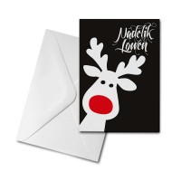 Christmas Card - Rudolph - Nadelik Lowen