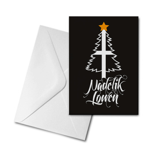 Christmas Card - St Piran Tree - Nadelik Lowen