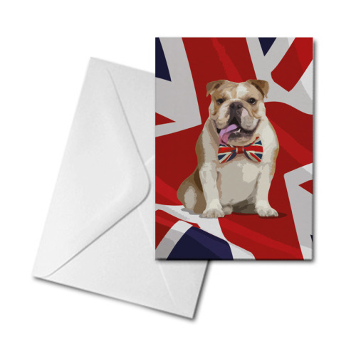Blank Greetings Card - British Bulldog