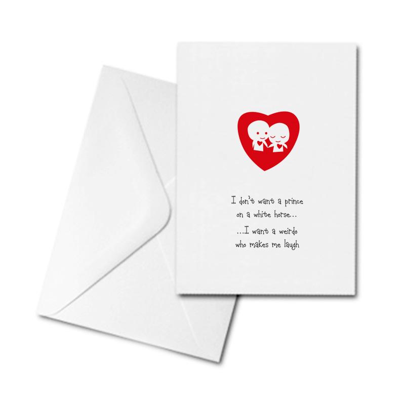 Blank Greetings Card - Prince