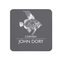 Cornish John Dory Coaster - Dark Grey Melamine - Cornwall Vibes