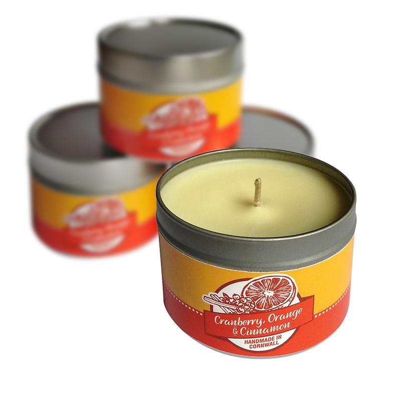 Soy Candle - Cranberry, Orange & Cinnamon