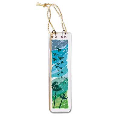 Handmade Fused Glass Hanging - Dandelions (Long)