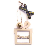 Wooden Hanging - Gift Box Bauble