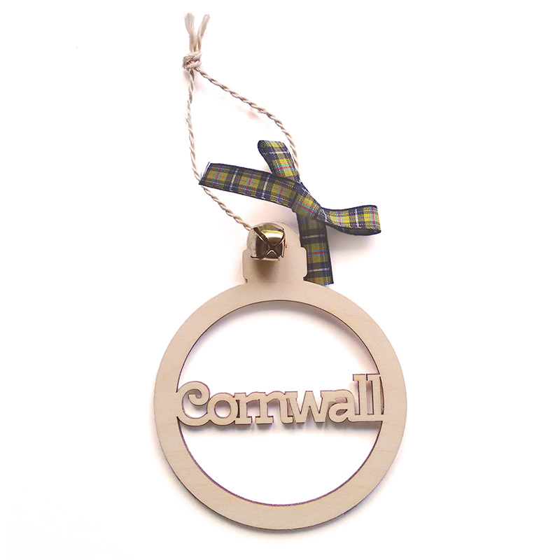 Wooden Hanging - Cornwall Bauble