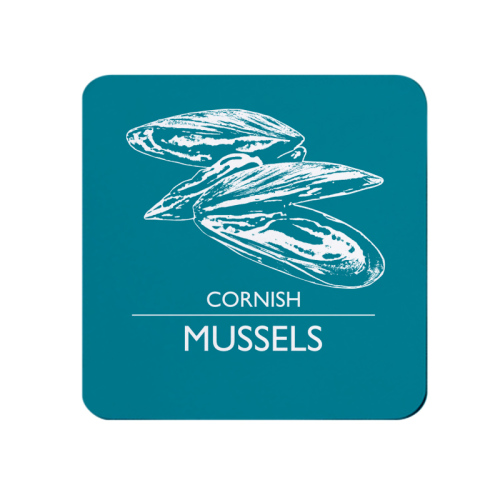 Cornish Crab Mussels Coaster - DeepTurquoise