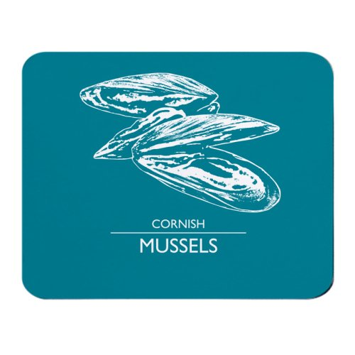 Place Mat - Cornish Mussels - Deep Turquoise