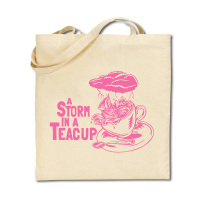 Cotton Tote Bag - Storm in a Teacup - Pale Pink