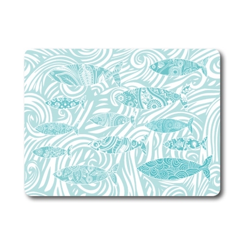 Textured Glass Surface Protector - Aqua Fish