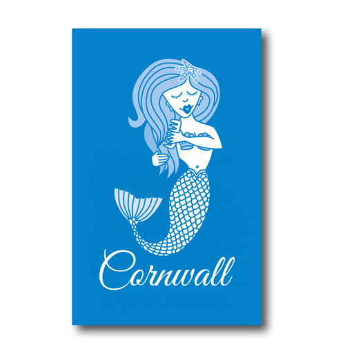 Melamine Fridge Magnet - Blue Mermaid