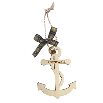Wooden Hanging - Cornwall Anchor