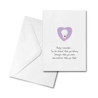Blank Card - Always Remember You are Braver