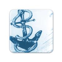 Glass Coaster - Anchor