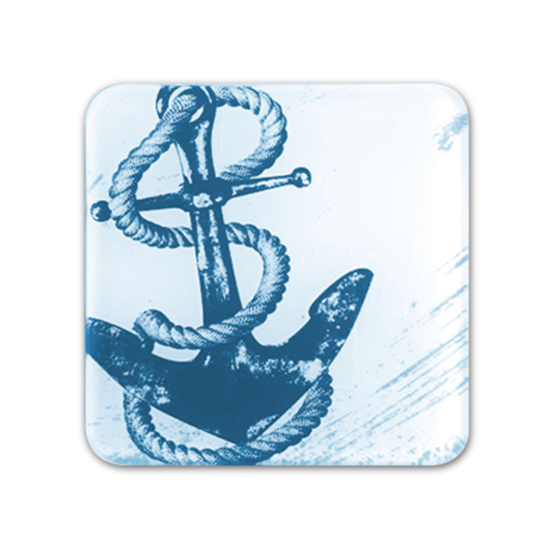 Glass Coaster - Anchor
