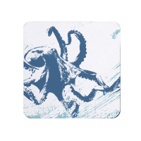 Blue and White Octopus Coaster - Nautical Style