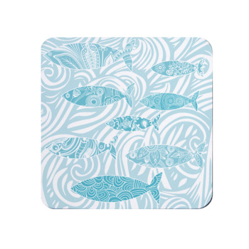 Shoal of Fish Coaster - Pale