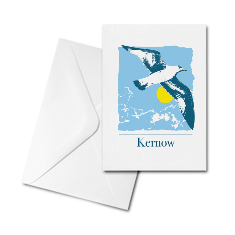 Blank Greetings Card - Kernow - Seagull